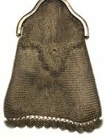 Valódi ezüst színházi táska zafír kővel Parfümös üveggel