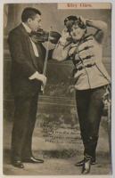 Képeslap 1904-ből (p.b.): Küry Klára énekesnő; B. A. (Bp.) kiadása