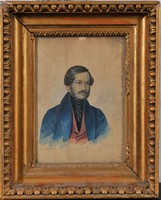 Ismeretlen művész, Férfiportré, 1838, akvarell