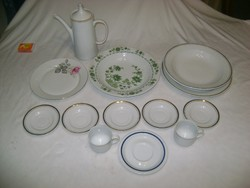 Alföldi porcelánok csomagban - kiöntő, tányérok, kistányérok, csészék