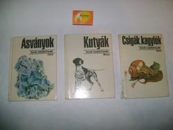 Búvár zsebkönyvek - három darab - Csigák, kagylók, Kutyák,  Ásványok - 1973, 1974, 1975
