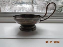 Antik VÖRÖSMARTY CUKRÁSZDA cizellált felirattal ezüstözött patinás fagylaltos kehely
