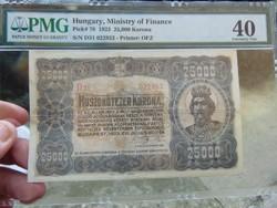 25000 korona 1923 Színváltozat RRR !!!