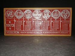 Ritka Videoton 1973-as naptár relikvia - EP