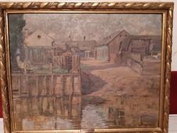Festmény, Benjamin Hermann olaj vászon