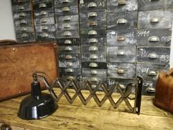 Harmonika lámpa, zománc burás ipari jellegű lámpa, fali lámpa, loft, industrial