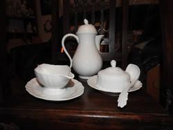 Hutschenreuther fehér dombormintás porcelán étkészlet darabok