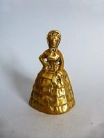 Antik jelzett,viktoriánus kori lányt,ladyt formáló asztali csengő,cselédhívó
