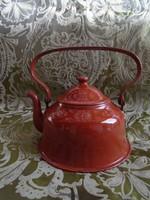 Ritka Eredeti 1930-évekből Antik teás kiöntő edény zománc igazi régi darab szép állapotban