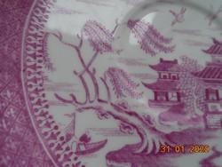 1880 Pink Willow (fűzfa) Viktoriánus Keleti mintával,kézzel számozott Copeland tányér 16 cm