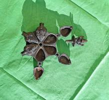 Ganésa bronz 6 rekeszes doboz