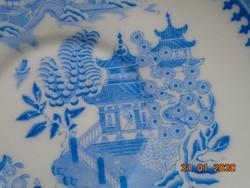 1884 Blue Willow (fűzfa) Viktoriánus Keleti mintával Royal Worcester tányér 17,3 cm