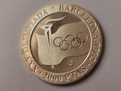 1991 spanyol ezüst 2000 peseta 27 gramm 0,925