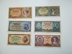 1945-1946 ig 10000 Pengő - 1 Milliárd Pengőig Inflációs sor