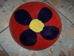 Virágos falitányér