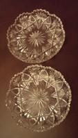 2 db. valódi csiszolt, ólomkristály süteményes tányér.(együtt)