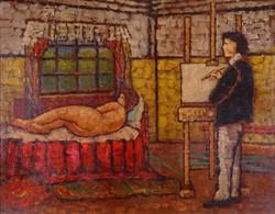 0Y577 Magyar festő XX. század : Műteremben