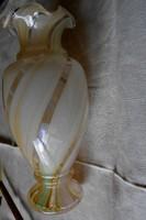 Szecessziós  üveg  váza (-anyagában különböző szín, nem utólag festett)