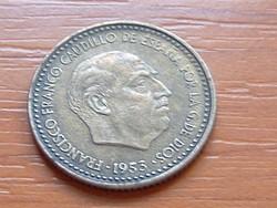 SPANYOL 1 PESETA 1953 (1962)