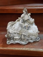 25 cm-es gyönyörű német porcelán, hibátlan.