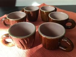 Mázas kerámia kávéscsészék retró
