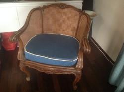 Barokk nádazott fotel pár