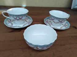 2 db Német porcelán csésze aljjal + tálka