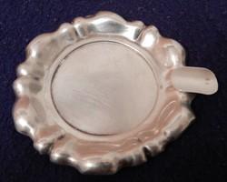 Kis ezüst hamutartó tálka / hamutál