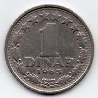 Jugoszlávia SFR 1 jugoszláv Dínár, 1965