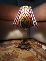 Asztali lámpa Tiffany üveges búrával