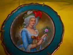 Limoges fali  porcelán tálka