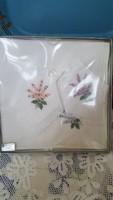 3 db-os kézzel himzett női zsebkendő