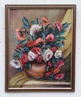 Csendélet - Virágcsendélet - Dekoratív virágcsendélet - Olajfestmény
