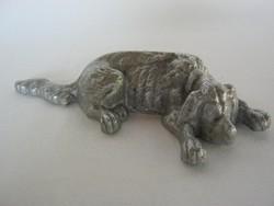 Fém kutya figura