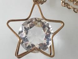 Hatalmas Swarovski kristályos nyaklánc, 4,5 cm a medál, 2,5 cm a kristály átmérője