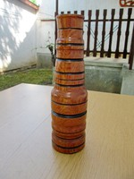 Nagy fa váza, vagy gyertyatartó - 32 cm, esztergált