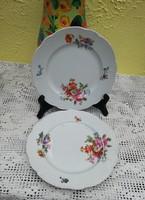 Zsolnay Gyöngyös sütistányérok, süteményes tányér, porcelán, nosztalgia, régiség