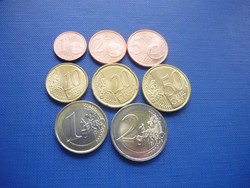 LITVÁNIA 1 EURO CENT - 2 EURO 2015! 8 DARABOS UNC SOR 2 BIMETÁLLAL! RITKA!