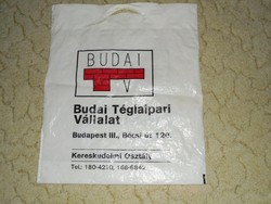 Retro Budai Téglaipari Vállalat - reklámszatyor reklám nylon szatyor zacskó - TVK 1980-as évek évek