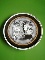 Hollóházi Szász Endre porcelán tányér,falitányér 25 cm