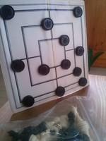 Mágneses úti játék sakk dáma malom backgammon készlet tokjában