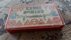 RETRO - Kresz dominó játék -szép állapotban