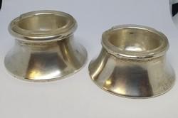 Ezüst fűszertartó pár, üveg betéttel