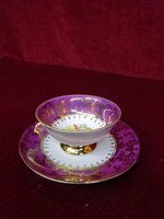 EIGL minőségi  antik porcelán Ausztria, kávéscsésze + alátét. Neumarkt/Stmk. felirattal.