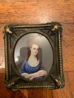 19.Századi Antik Francia Miniatűr Szignózott