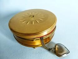 Gyönyörű angol Margaret Rose sárgaréz ékszeres doboz,ékszertartó