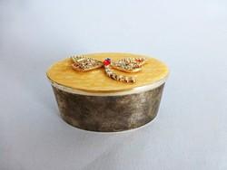 Gyönyörű pillangós,lepkés fém ékszeres doboz,ékszertartó
