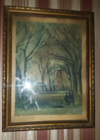 Farkas István - menekülés (akvarell papír)