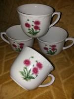 Kahla csésze, mezeivárágos, barokk széllel 2 db