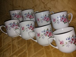 Kahla csésze, gyümölcsvirágos